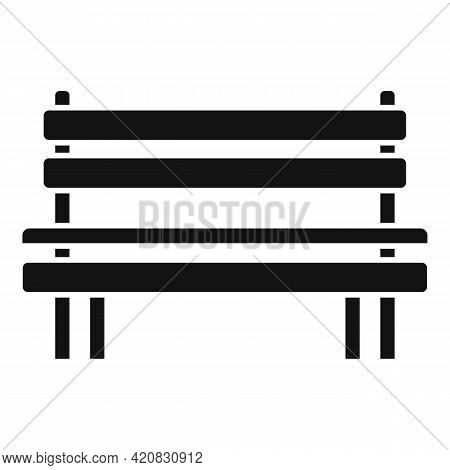 Wooden Bench Icon. Simple Illustration Of Wooden Bench Vector Icon For Web Design Isolated On White