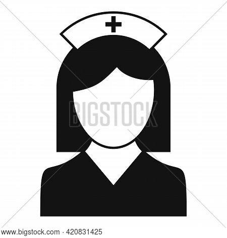 Nurse Lady Icon. Simple Illustration Of Nurse Lady Vector Icon For Web Design Isolated On White Back
