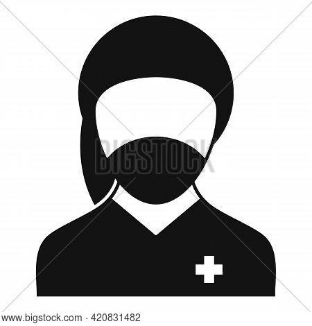 Nursing Assistant Icon. Simple Illustration Of Nursing Assistant Vector Icon For Web Design Isolated