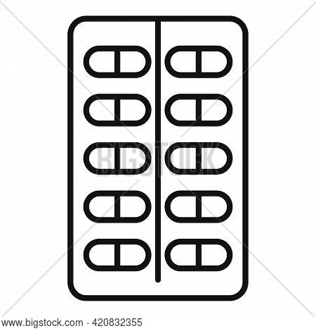 Nursing Pills Icon. Outline Nursing Pills Vector Icon For Web Design Isolated On White Background