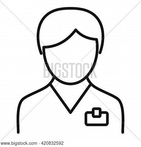 Nursing Team Icon. Outline Nursing Team Vector Icon For Web Design Isolated On White Background