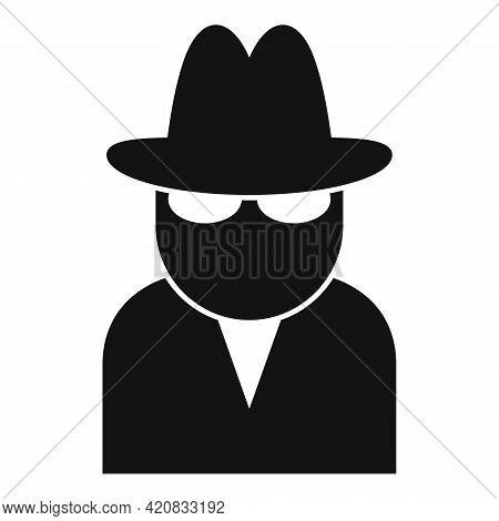Security Agent Icon. Simple Illustration Of Security Agent Vector Icon For Web Design Isolated On Wh