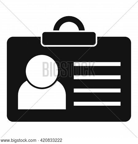 Security Id Card Icon. Simple Illustration Of Security Id Card Vector Icon For Web Design Isolated O
