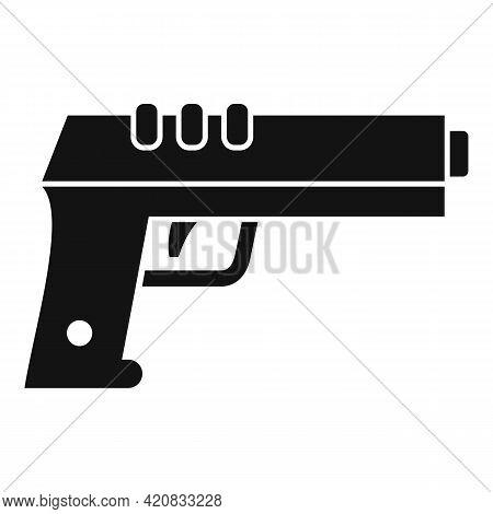 Security Service Pistol Icon. Simple Illustration Of Security Service Pistol Vector Icon For Web Des