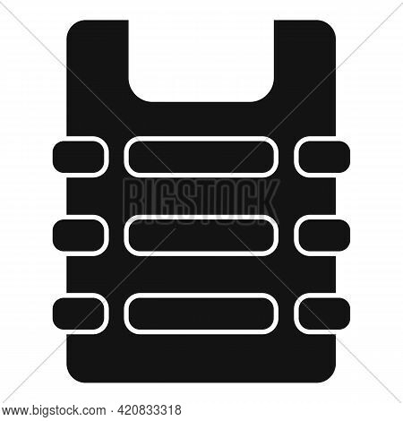 Security Service Bulletproof Icon. Simple Illustration Of Security Service Bulletproof Vector Icon F