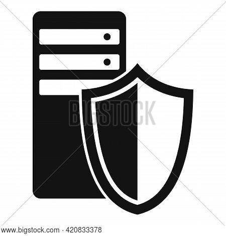 Security Service Server Icon. Simple Illustration Of Security Service Server Vector Icon For Web Des