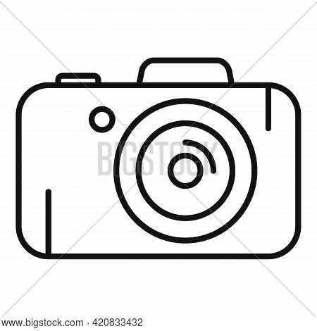 Security Service Camera Icon. Outline Security Service Camera Vector Icon For Web Design Isolated On