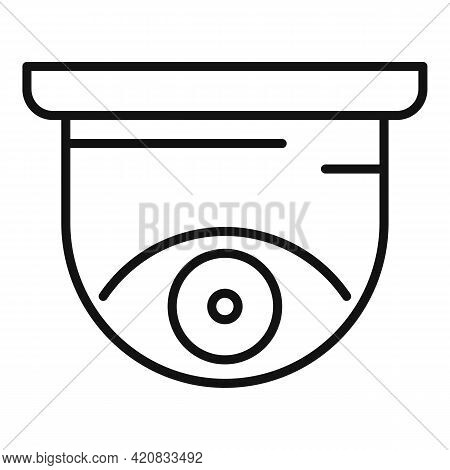 Security Indoor Camera Icon. Outline Security Indoor Camera Vector Icon For Web Design Isolated On W