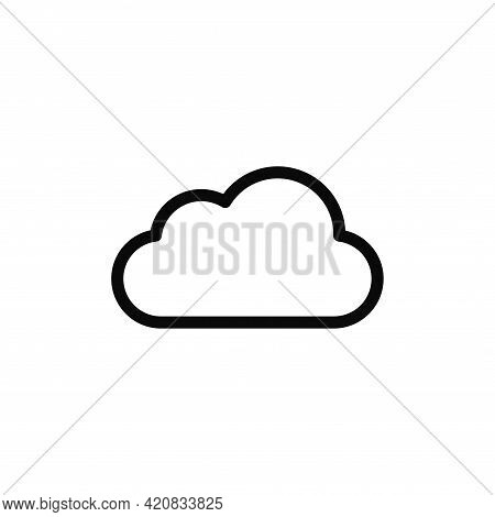 Cloud Icon Isolated On White Background. Cloud Icon In Trendy Design Style For Web Site And Mobile A