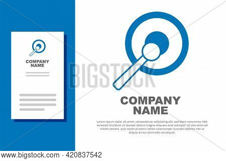 Blue Gong Musical Percussion Instrument Circular Metal Disc And Hammer Icon Isolated On White Backgr
