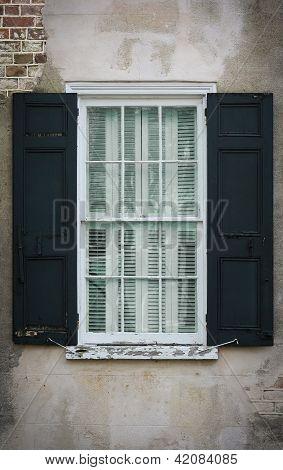 Antique glass window