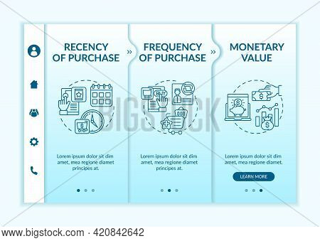 Rfm Model Investigation Onboarding Vector Template. Responsive Mobile Website With Icons. Web Page W