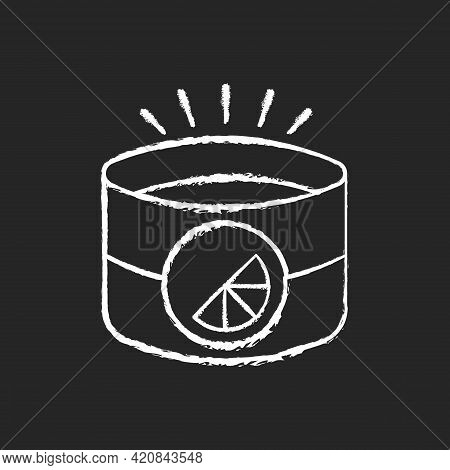 Branded Light Reflective Armband Chalk White Icon On Black Background. Special Band For Working Out