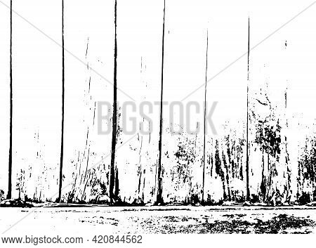Distressed Overlay Texture Of Rough Surface, Wooden Wall. Grunge Background. One Color Graphic Resou