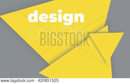 Yellow And Gray Geometric Shapes. Minimal Abstract Cover Design. Trendy Colors Poster.