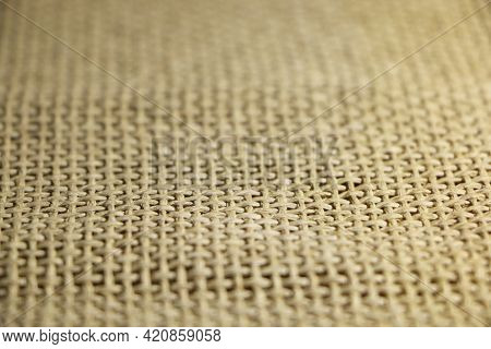 Abstract Background From A Fibrous Fabric With A Different Color Base. Burlap Background.