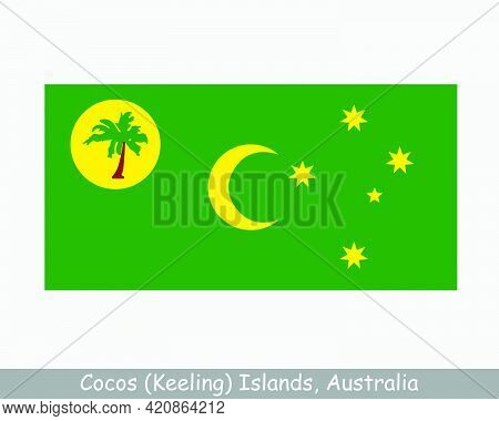 Cocos (keeling) Islands Flag. Australian Indian Ocean Territory, External Territory Of Australia. Ep