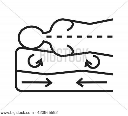 Orthopaedic Matrass Icon Vector. Physical Therapy Line Sign