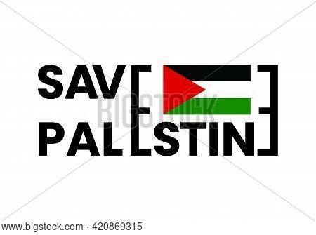 Save Palestine Freedom Vector Flag Green Black Red Abstract Design. Save Palestine Illustration.