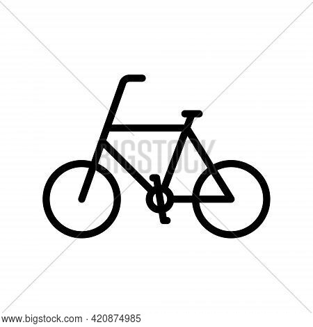 Bicycle Flat Line Icon. Vector Outline Illustration Of Urban Transportation, Bike Sharing, Bicycle F