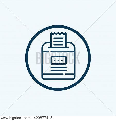 Bills Icon Isolated On White Background From E Commerce And Payment Collection. Bills Icon Trendy An