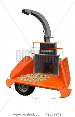 wood chipper under the white background