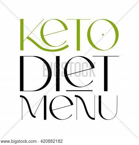 Keto Friendly Diet Vector Design Elements. Logo