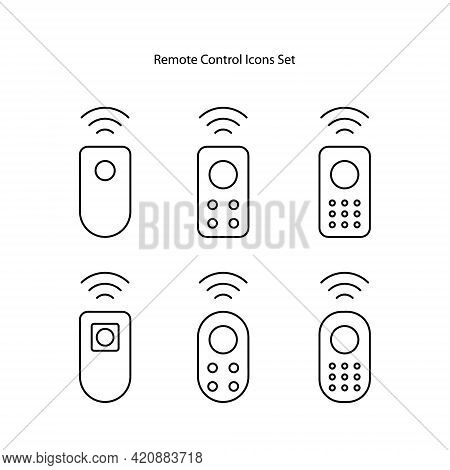 Remote Control Icon Isolated On White Background. Remote Control Icon Trendy And Modern Remote Contr