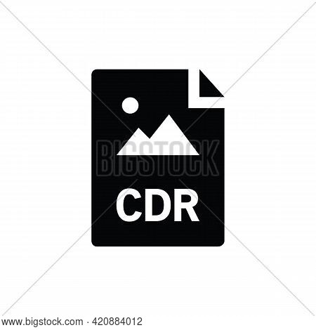 Cdr Format Document Icon Vector, Filled Flat Sign, Solid Pictogram Isolated On White. File Formats S