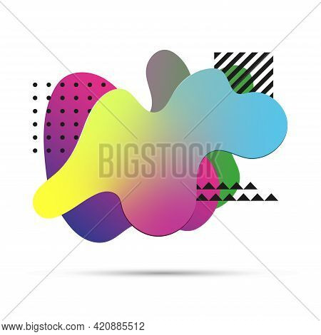 Creative Abstract Amoeba Design With Different Geometric Elements.