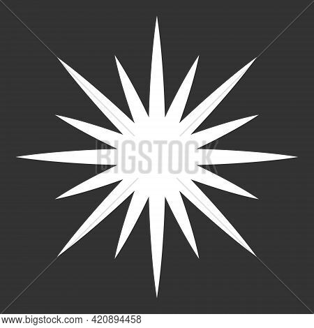 Starburst Vector Graphic. Sun And Star Burst Icon. Abstract Detonation And Explosion Icon. Cartoon S