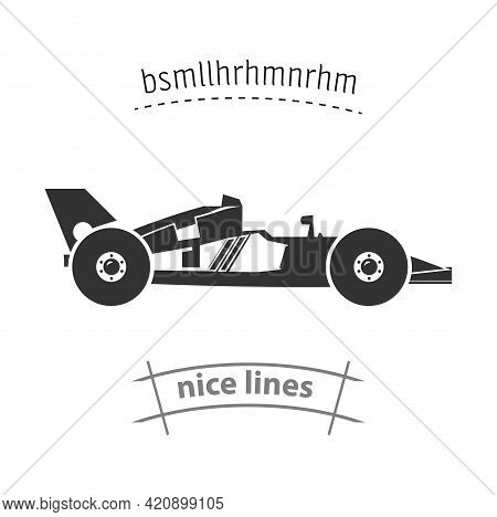 Racing Car Icon. Sport Car Simple Vector Icon. Racing Car Isolated Icon