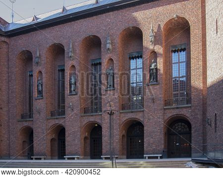 Stockholm City Hall Stadshuset Tower Building Of Municipal Council And Nobel Prize On Kungsholmen Is