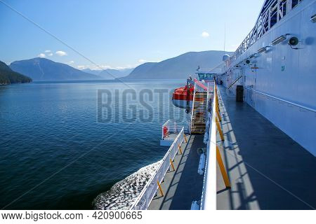 Wonderful Day: View From A Ferry In The Inside Passage In The Coast Mountains In British Columbia, C