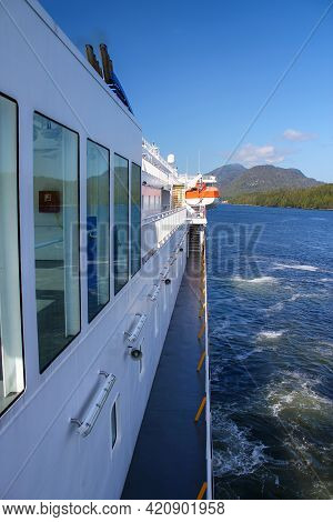 Travelling The Inside Passage Between Alaska And Canada: Ferry Cruise On The Inside Passage In Canad