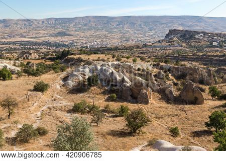 Urgup, Turkey - October 4, 2020: It Is An Urban Surroundings In Cappadocia With A Characteristic Ext