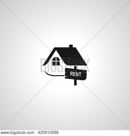 House Rent Simple Vector Icon. House For Rent Icon