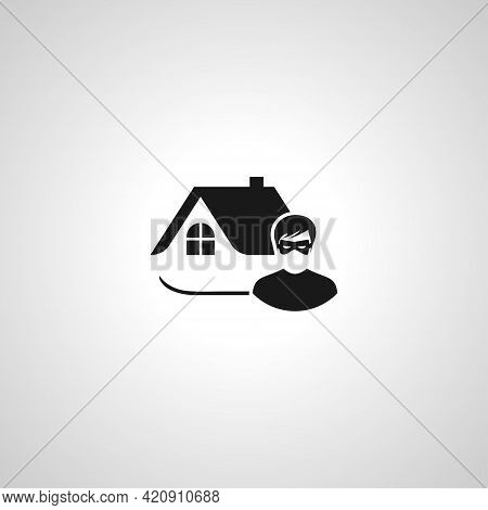 House Thief Simple Vector Icon. Thief Isolated Icon