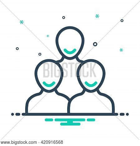 Mix Icon For Customers Clients People Group Subscriber Clientele Purchaser Underwriter