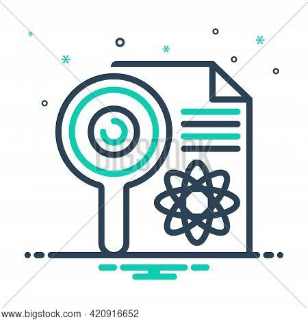 Mix Icon For Research Investigation Checkout Quest Disquisition