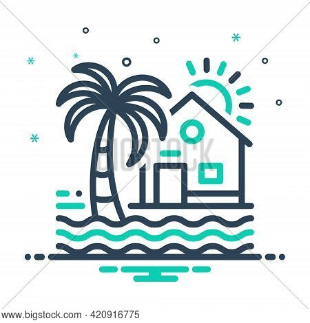 Mix Icon For Beach-house Beach House Maldives Resort Ocean Tree Coastal
