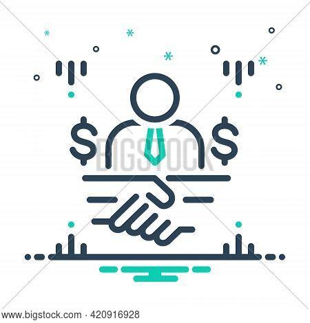 Mix Icon For Brokerage Broking Mediation Handshake Contractor
