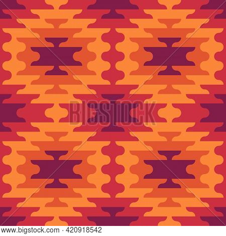 Seamless Pattern. Ethnic Ornament. Embroidery Background. Tribal Wallpaper. Ethnical Folk Image. Tri