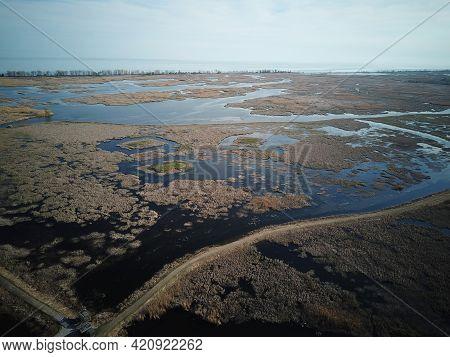 Drone Photographs Of Port Rowan Ontario Near Long Point Ontario. Famous For Bird Watchers