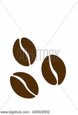Silhouette Coffee Beans, Coffea Arabica. Vector Graphic Resources