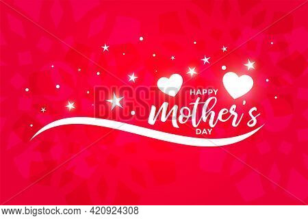 Beautiful Happy Mothers Day Greeting Or Wallpaper Design