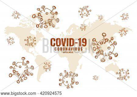 Covid19 Coronavirus Global Spread Outbreak Background Design