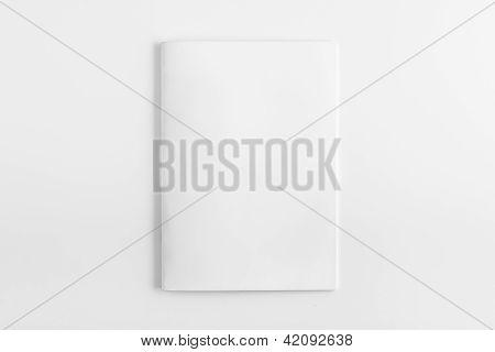 Blank Magazine isolated on White Background