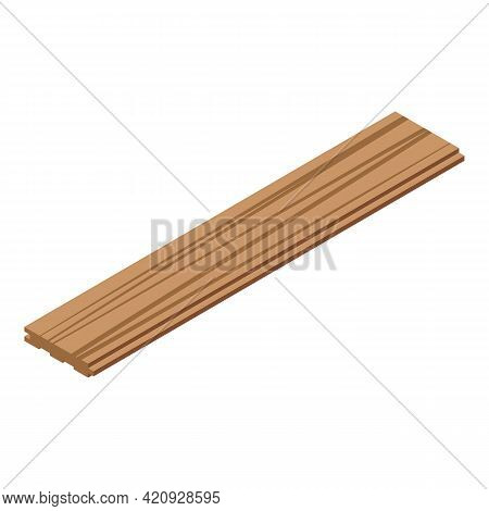 Plywood Plank Icon. Isometric Of Plywood Plank Vector Icon For Web Design Isolated On White Backgrou