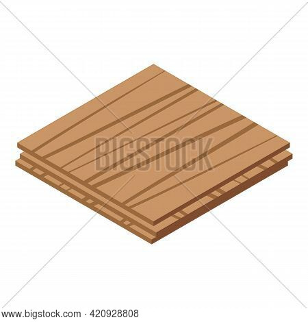 Plywood Layer Icon. Isometric Of Plywood Layer Vector Icon For Web Design Isolated On White Backgrou